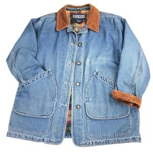 Vintage Lands End | Denim Corduroy Jacket